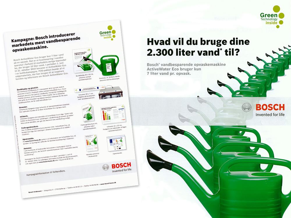 Bosch: Opvaskemaskine kampagne, koncept