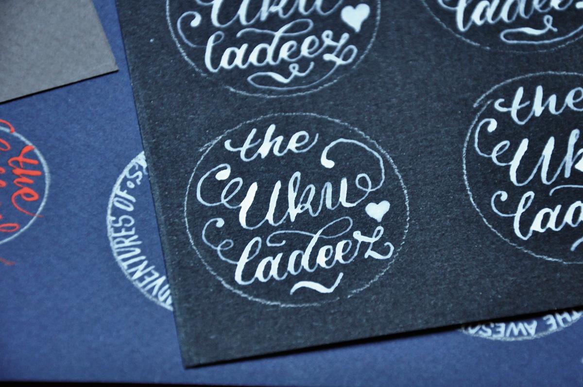 Kalligrafi – udkast til The Ukuladeez Badge 4
