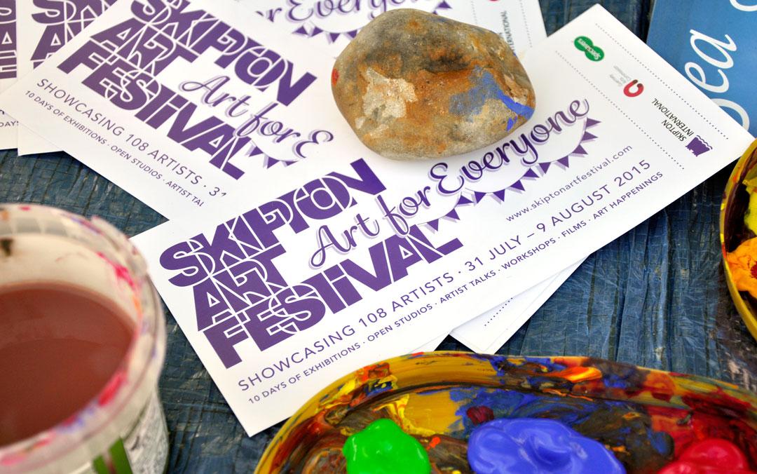 Flyers for Skipton Art Festival 2015