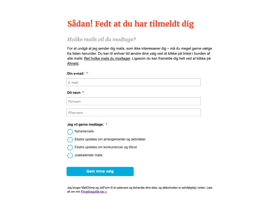 MailChimp-oplæg